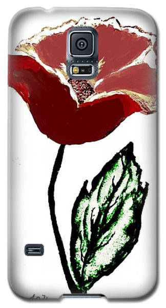 Galaxy S5 Case featuring the drawing Modernized Flower by Marsha Heiken