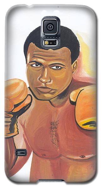 Galaxy S5 Case featuring the painting Mohammed Ali by Emmanuel Baliyanga