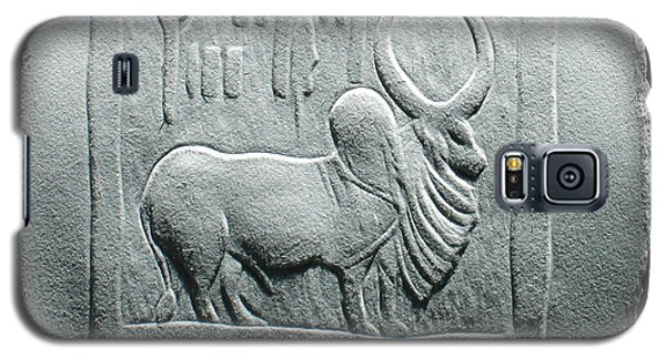 Galaxy S5 Case featuring the relief Mohenjodaro Seal Relief Drawing by Suhas Tavkar