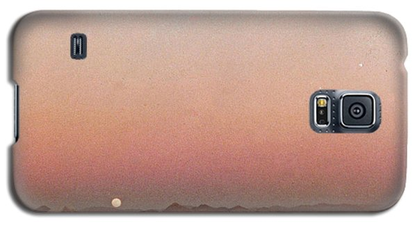 Galaxy S5 Case featuring the digital art Mojave Sunset by Walter Chamberlain