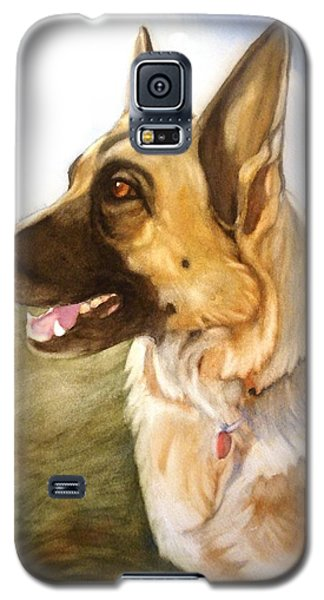 Galaxy S5 Case featuring the painting Mollie by Marilyn Jacobson