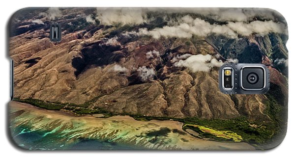 Galaxy S5 Case featuring the photograph Molokai From The Sky by Joann Copeland-Paul