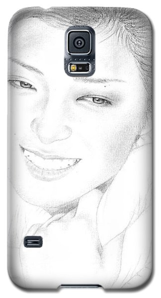 Galaxy S5 Case featuring the drawing Momoe Yamaguchi by Eliza Lo