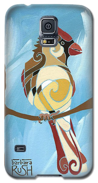 Moms Day Off Female Cardinal Painting Galaxy S5 Case