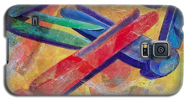 Galaxy S5 Case featuring the painting Mom's Wash Day by Susan DeLain