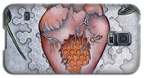 Galaxy S5 Case featuring the painting Mon Coeur- Where The Honeybees Live by Sheri Howe