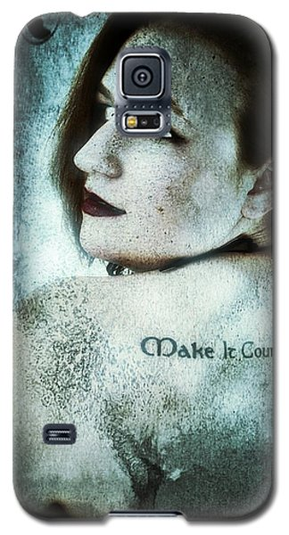 Galaxy S5 Case featuring the digital art Mona 1 by Mark Baranowski
