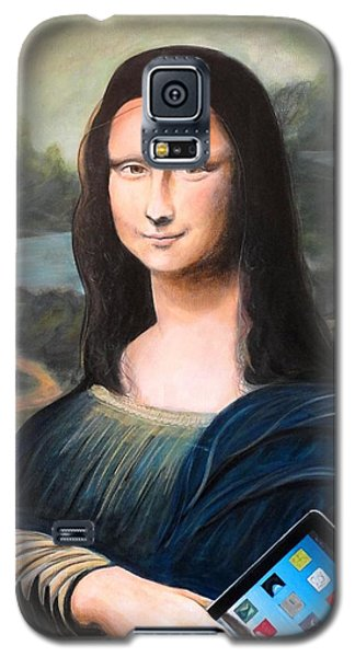 Mona Lisa With Ipad Galaxy S5 Case