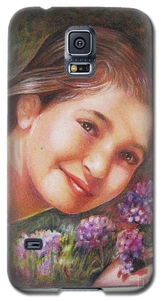 Galaxy S5 Case featuring the painting Mona Lisa's Smile by Patricia Schneider Mitchell