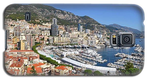 Galaxy S5 Case featuring the photograph Monaco Port Hercule Panorama by Yhun Suarez