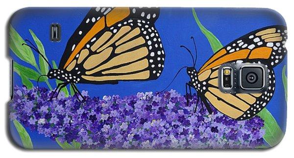 Monarch Butterflies On Buddleia Flower Galaxy S5 Case
