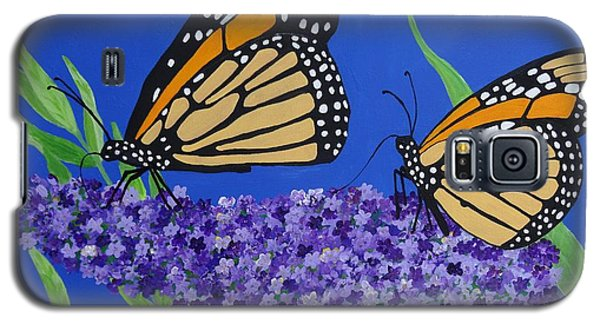 Monarch Butterflies On Buddleia Flower Galaxy S5 Case