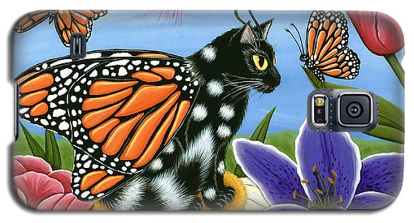 Monarch Butterfly Fairy Cat Galaxy S5 Case