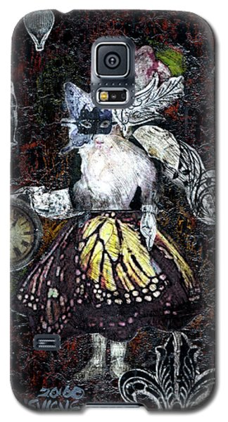 Galaxy S5 Case featuring the mixed media Monarch Steampunk Goddess by Genevieve Esson