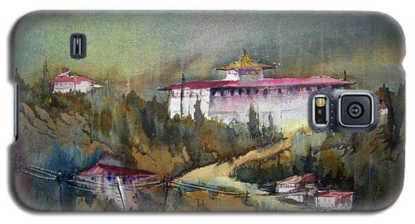 Monastery In Mountain Galaxy S5 Case by Samiran Sarkar