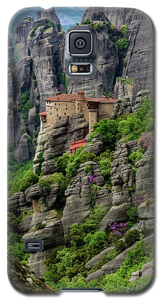 Monastery Of Saint Nicholas Of Anapafsas, Meteora, Greece Galaxy S5 Case