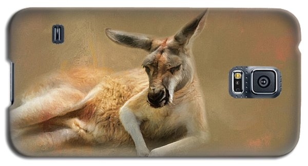 Monday Morning Drowsies Kangaroo Art Galaxy S5 Case by Jai Johnson