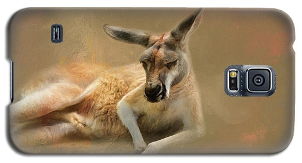 Monday Morning Drowsies Kangaroo Art Galaxy S5 Case by Jai Johnson