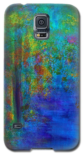 Galaxy S5 Case featuring the painting Monet Woods by Claire Bull