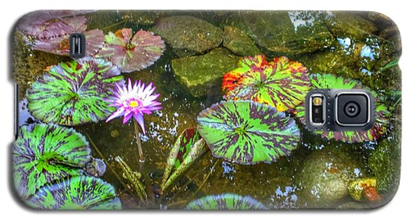 Galaxy S5 Case featuring the photograph Monet's Pond At The Fair by Jame Hayes