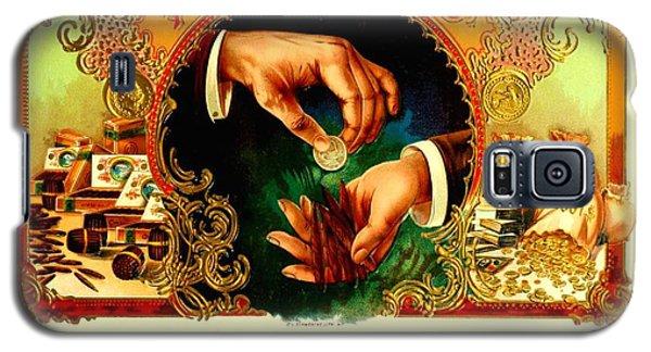 Money Cigar Label Galaxy S5 Case by Marianne Dow