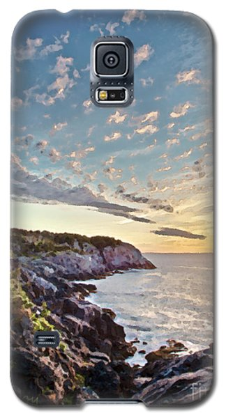 Galaxy S5 Case featuring the photograph Monhegan East Shore by Tom Cameron
