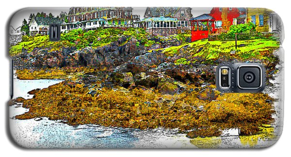 Galaxy S5 Case featuring the photograph Monhegan West Shore by Tom Cameron