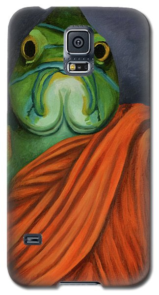 Galaxy S5 Case featuring the painting Monk Fish by Leah Saulnier The Painting Maniac