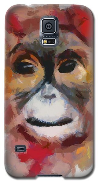 Galaxy S5 Case featuring the painting Monkey Splat by Catherine Lott
