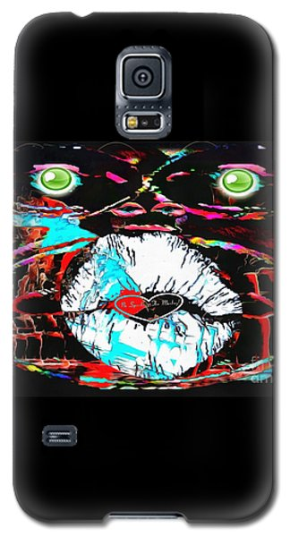 Galaxy S5 Case featuring the painting Monkey Works by Catherine Lott