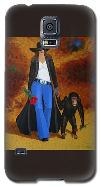 Monkeys Best Friend Galaxy S5 Case by Lance Headlee