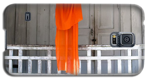 Monk's Robe Hanging Out To Dry, Luang Prabang, Laos Galaxy S5 Case