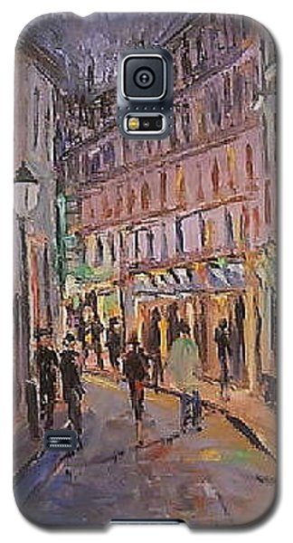 Galaxy S5 Case featuring the painting Monmartre by Walter Casaravilla