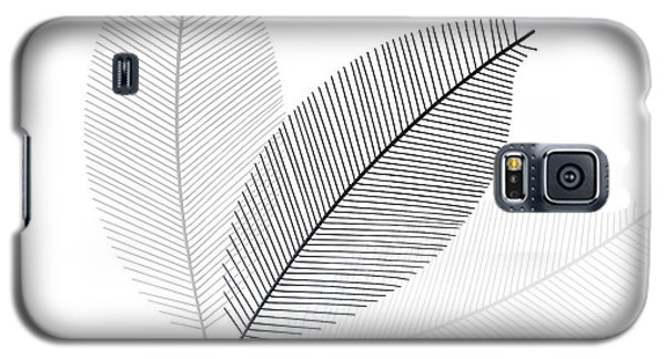 Monochrome Leaves Galaxy S5 Case