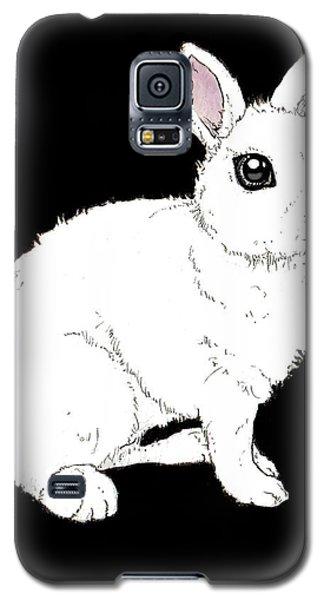 Monochrome Rabbit Galaxy S5 Case by Katrina Davis