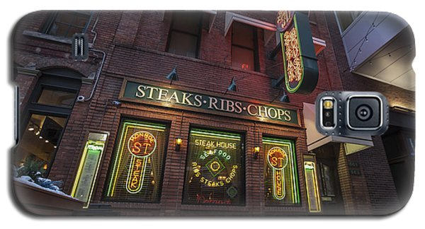 Galaxy S5 Case featuring the photograph Monroe St Steakhouse by Nicholas Grunas