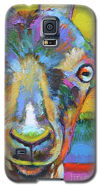 Galaxy S5 Case featuring the painting Monsieur Goat by Robert Phelps