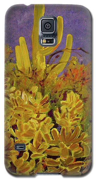 Galaxy S5 Case featuring the painting Monsoon Glow by Julie Todd-Cundiff