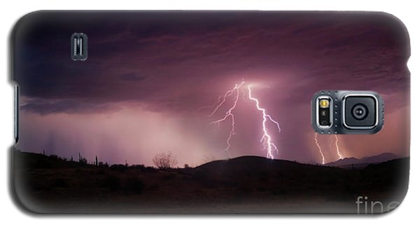Galaxy S5 Case featuring the photograph Monsoon Lightning by Anthony Citro