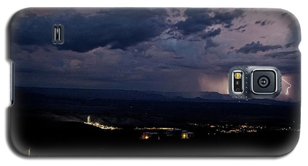 Monsoon Lightning Over Sedona From Jerome Az Galaxy S5 Case