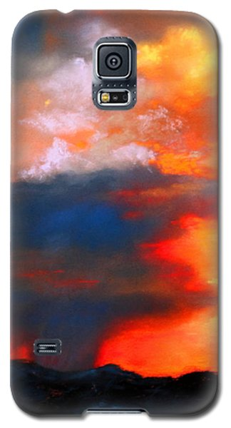 Galaxy S5 Case featuring the painting Monsoon Shower by M Diane Bonaparte