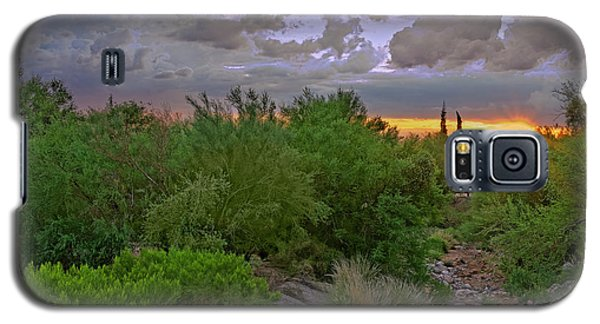Galaxy S5 Case featuring the photograph Monsoon Sunset H56 by Mark Myhaver