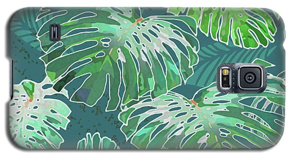 Monstera Jungle Teal Galaxy S5 Case