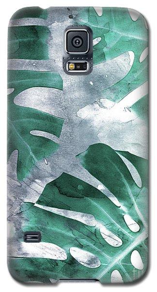 Monstera Theme 1 Galaxy S5 Case by Emanuela Carratoni