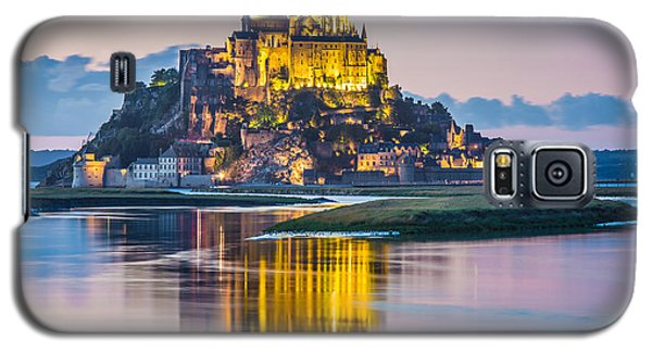 Mont Saint-michel In Twilight Galaxy S5 Case