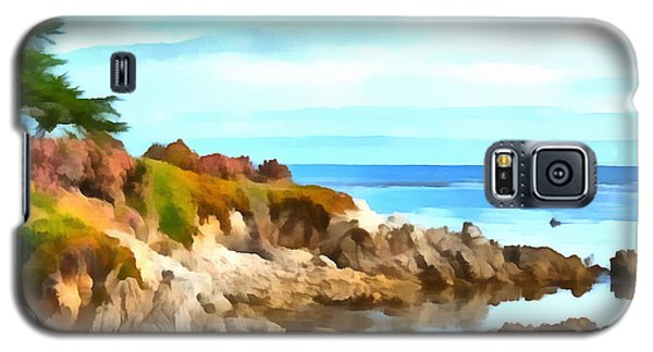 Galaxy S5 Case featuring the photograph Monterey Coastline Watercolor by Floyd Snyder