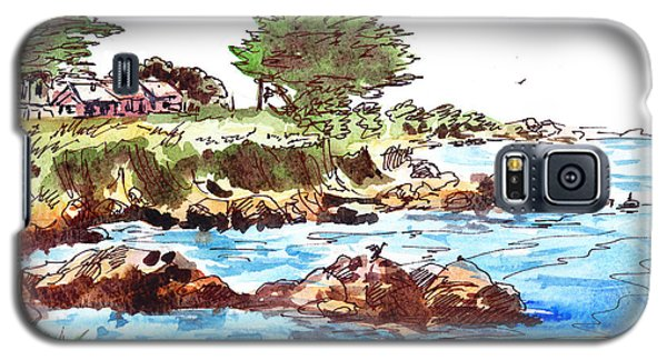 Galaxy S5 Case featuring the painting Monterey Shore by Irina Sztukowski