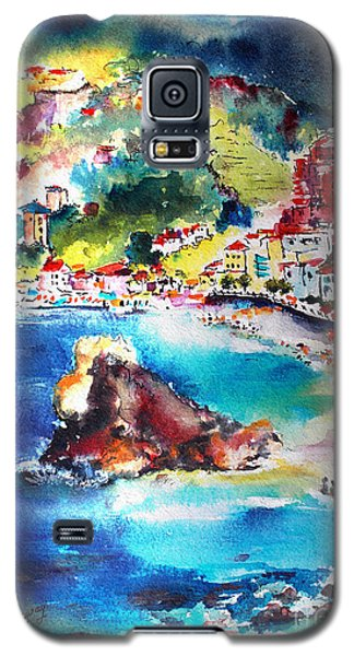 Galaxy S5 Case featuring the painting Monterosso  Cinque Terre Italy  by Ginette Callaway