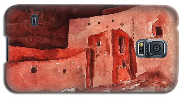 Galaxy S5 Case featuring the painting Montezuma's Castle by Sharon Mick
