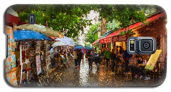 Galaxy S5 Case featuring the photograph Montmartre Art Market, Paris by Carl Amoth